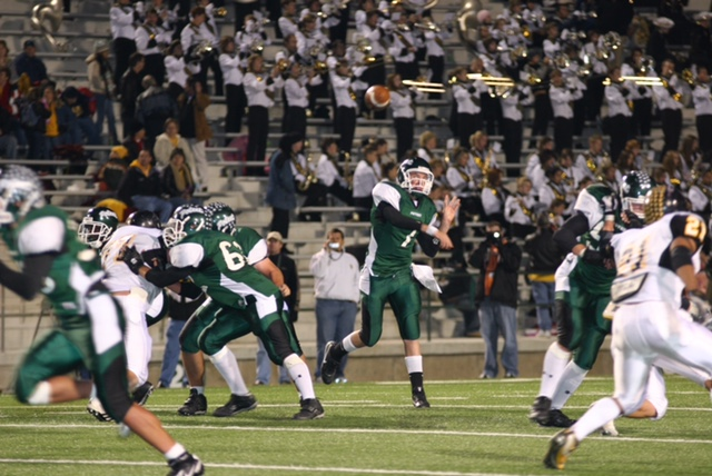 Spanish+teacher+Seth+Sartain+recalls+his+experience+as+the+starting+quarterback+at+Mesquite+Poteet.