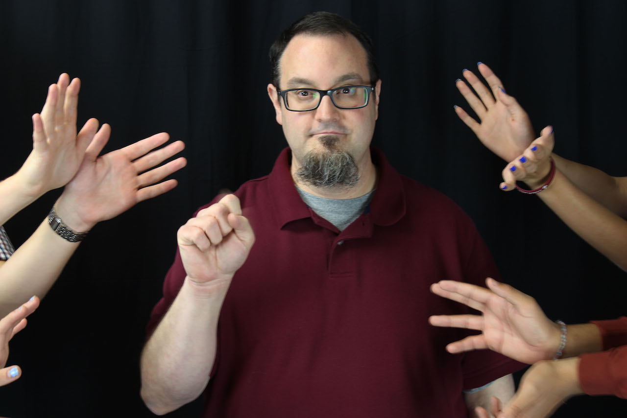 American Sign Language teacher Edward Bart is deaf. Bart studied at the Rochester Institute of Technology in New York and the University of Texas at Arlington before beginning his career as a teacher.