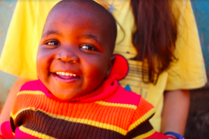 All of the children at the Care Points in Manzini, Swaziland are either orphaned or classified as vulnerable. Each child is given a daily meal, a preschool education, and a safe place to play and be loved.