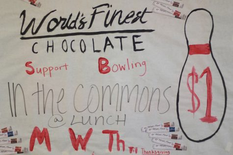 Bowling team raises funds with World's Finest Chocolate