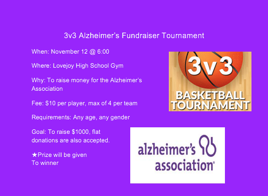 Senior Grant Doig is combing his passion for basketball and Alzheimer's awareness for his senior project.