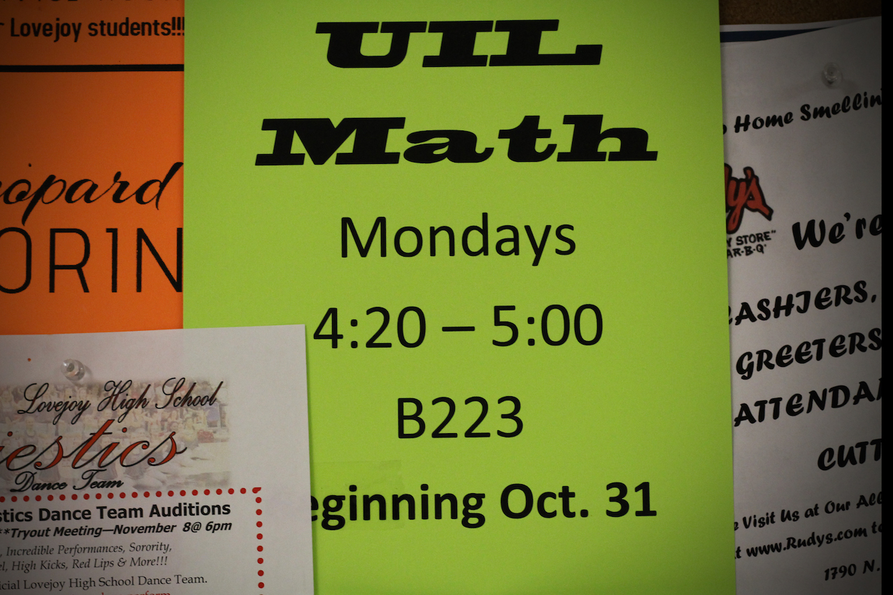 Math UIL team looks to continue their previous streak of district titles that was lost last year.