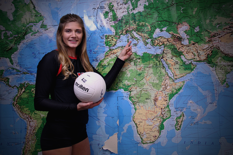Senior volleyball player Bailey Downing is set to travel to Europe.
