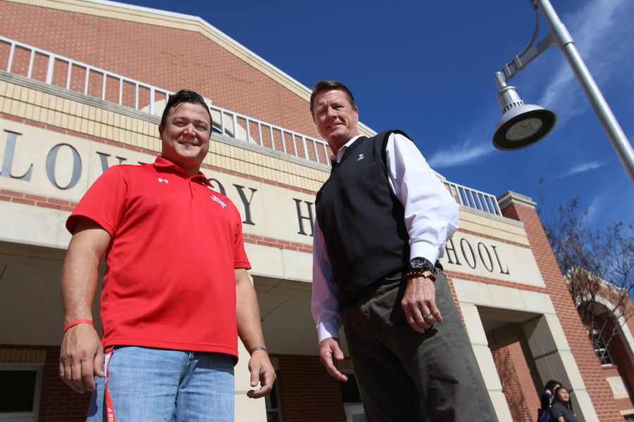 Assistant+principal+Bruce+Coachman+and+his+son+Austin+both+currently+work+on+campus.+