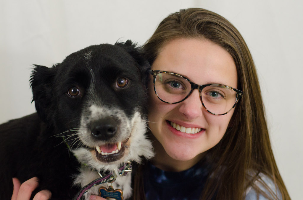 Senior Mandy Halbert needed a model for her photography. But the only family member willing to participate was her border collie, Spencer.