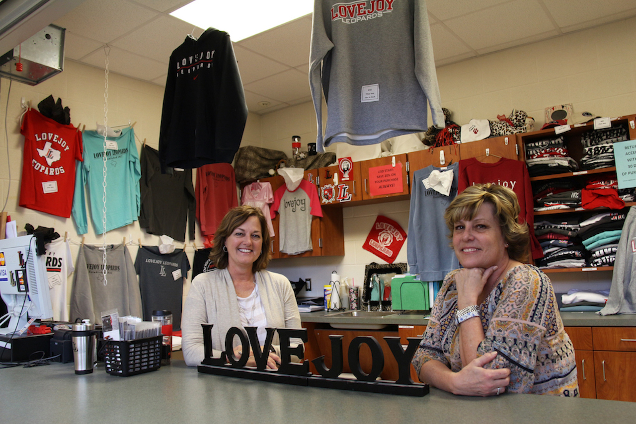 In addition to T-shirt sales, the school store and its employees manage travel expenses, books, and club registrations.