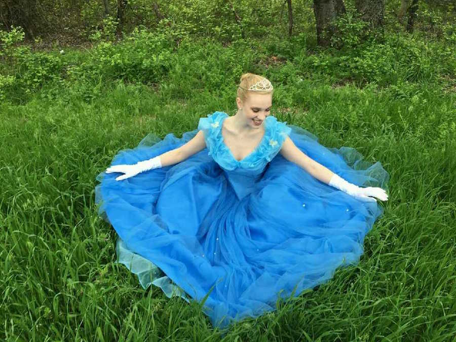 Various students work as princesses for children's birthday parties. Pictured above is junior Lauren Willmann portraying the character of Cinderella.
