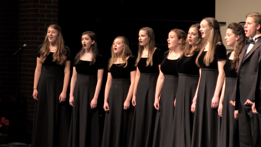 A+capella+performs+at+the+winter+concert+in+December.