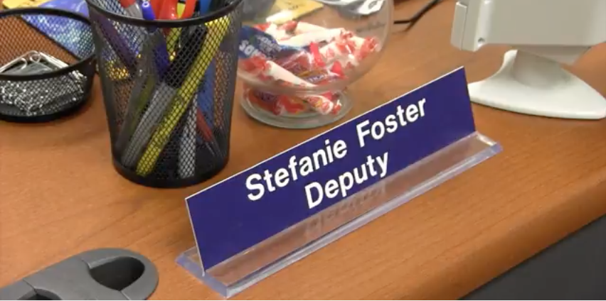 Serving as the new school resource officer, deputy Stefanie Foster works to create a safer campus.
