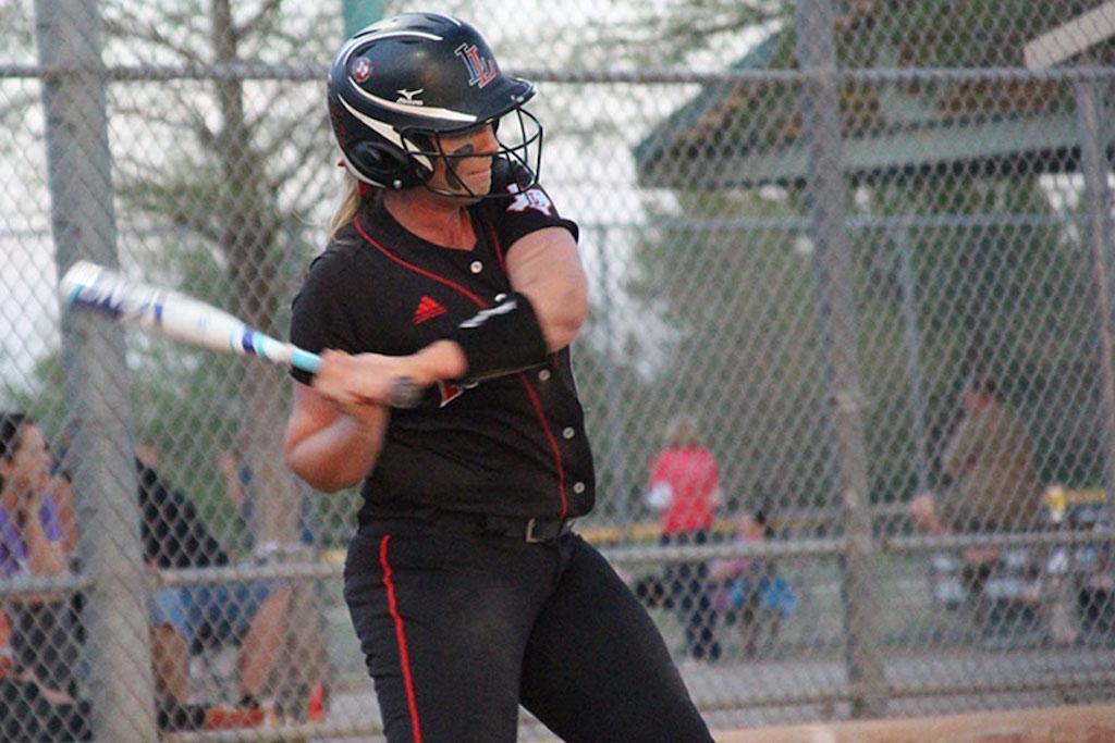Junior Alyssa DiFiore takes a swing.