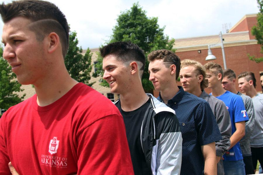 The varsity baseball team will be traveling to Hallsville tonight in the first round of playoffs. Each team member has received a new, unique haircut in order to build team spirit.