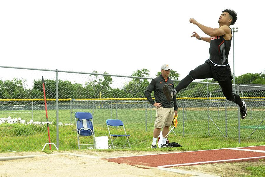 Junior Chase Van Wagoner will compete at the 5A state track meet in long jump. At the district meet, he jumped 22-05.