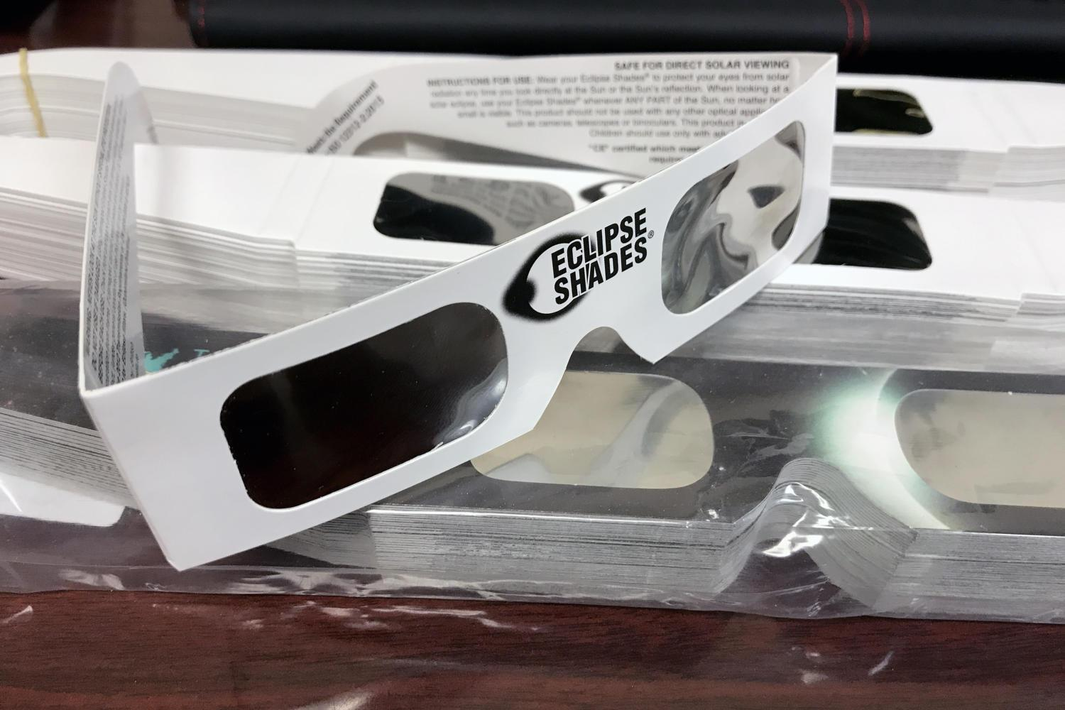 The school will provide eye protection for viewing Monday's total solar eclipse. Students will be dismissed in rotations between 12:40-1:30 p.m.