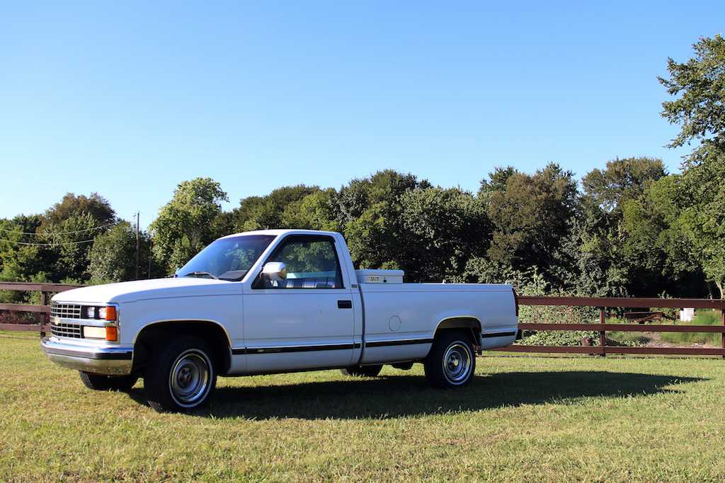The 1989 Chevy pickup is now in a new temporary home in Lucas, Texas.