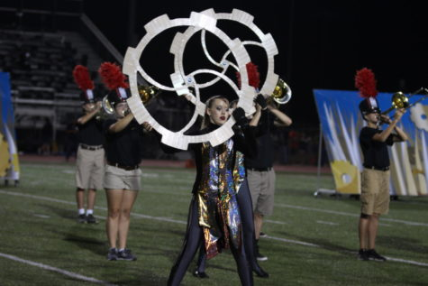 Marching band ends season in area contest