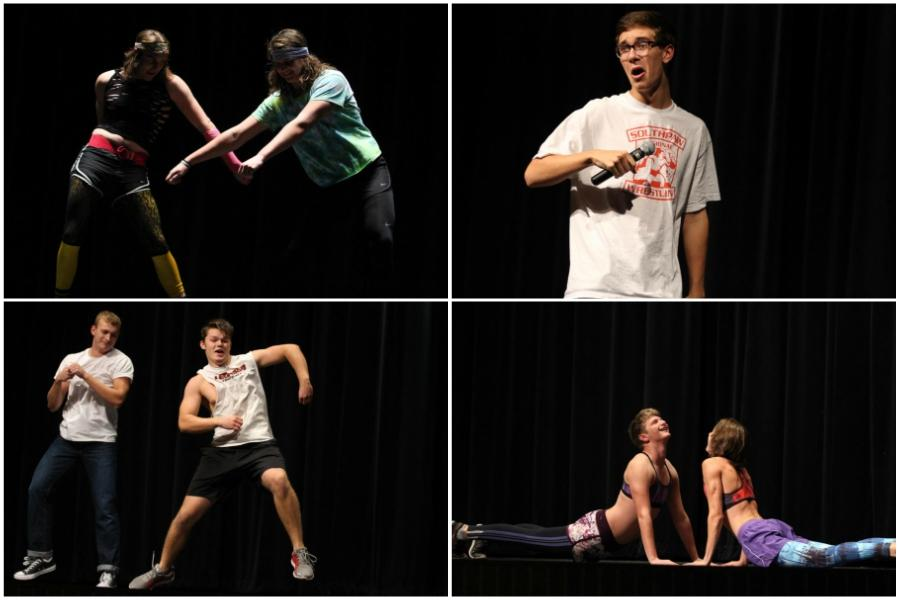 Mr. Lovejoy contestants practice during a Tuesday rehearsal.
