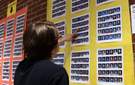 Student yearbook pictures displayed for corrections