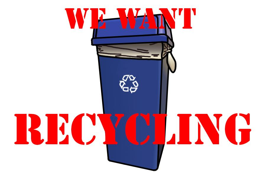 Environmental club president Jerad King hopes to bring recycling back to the city of Lucas.
