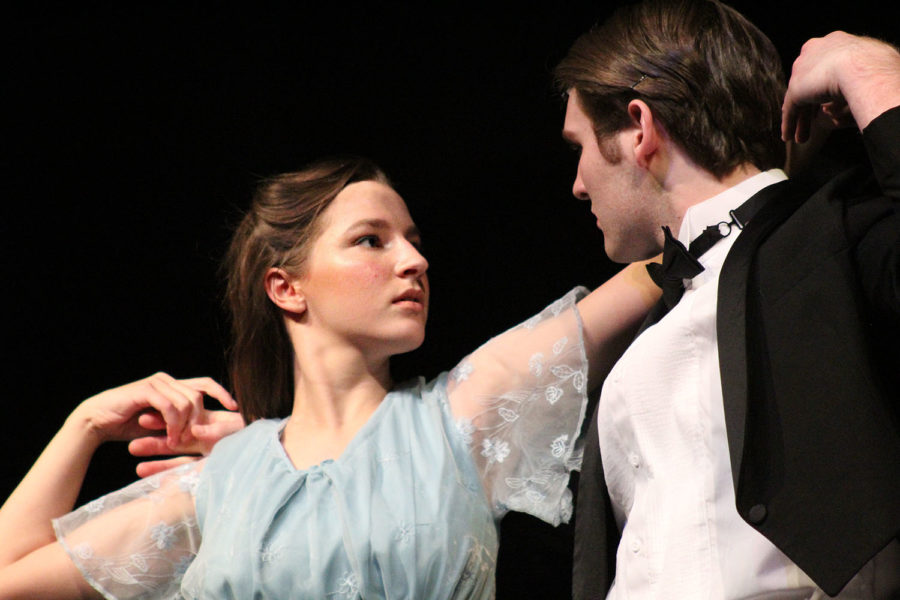 Seniors Hannah Hansen and Jack Supan dance together as they play the roles of Maria and the Captain respectively.