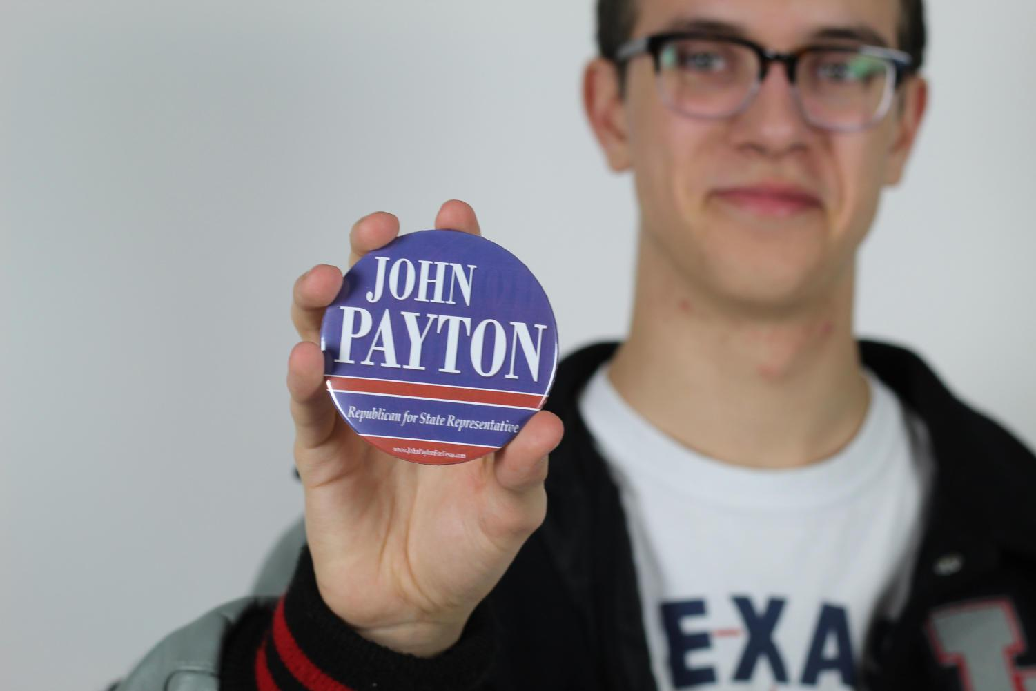 Senior Clay Parker manages a campaign for Judge John Payton. His teachers and parents support him in his commitments.