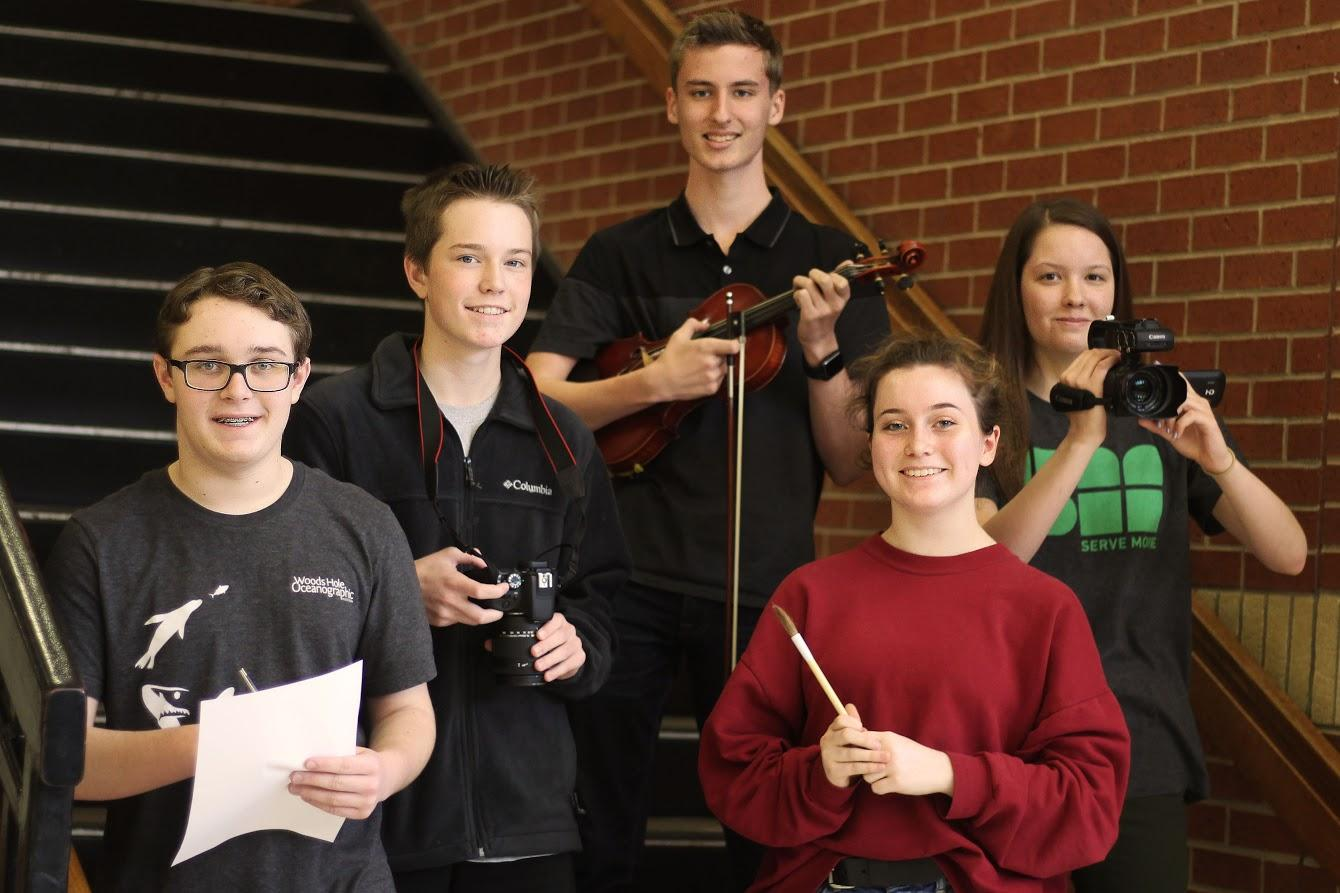 Four freshmen and one sophomore to compete in categories from music to literature.