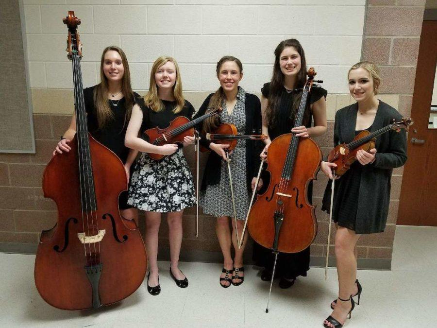 The quintet has received a perfect rating each year during the ensemble contest.