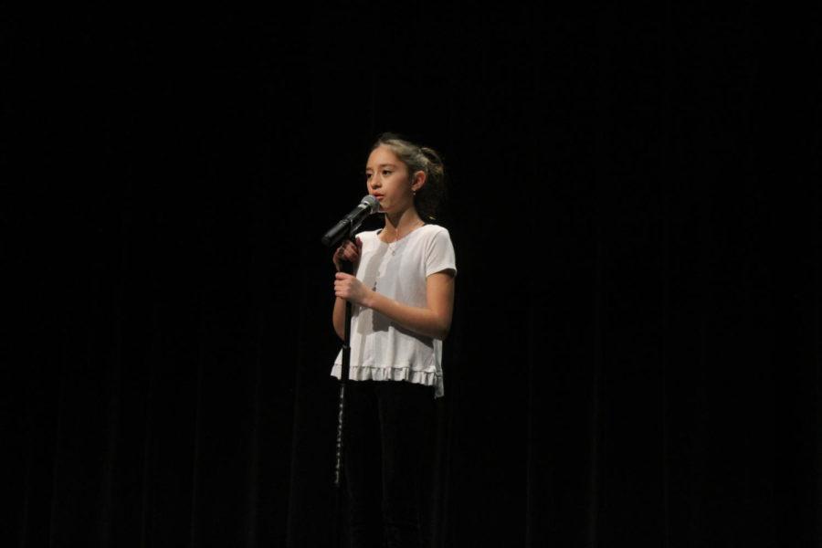 Sofia Ogle-Garza sings