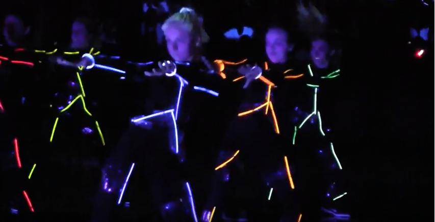Video: Black light pep rally 2018