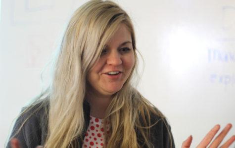 Art teacher Amanda Beller