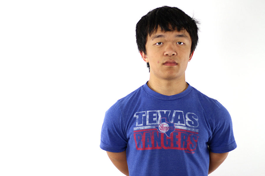 Senior James Ayers has wrestled since sixth grade and is now team captain.