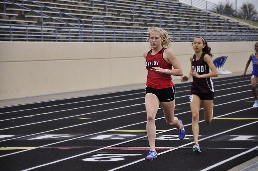 Junior Carson Hockersmith looks to pull away from the competition during a race.