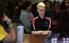 Students congregate for 17 minutes of silence