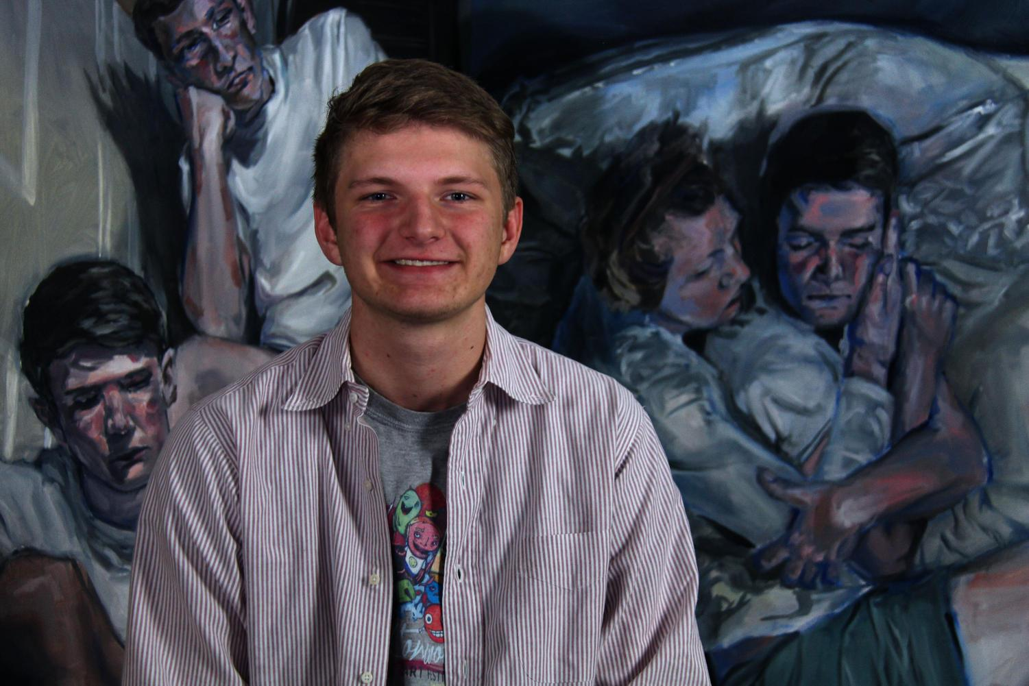 Senior Eli Ruhala has been an artist since freshman year. He plans to go to Maryland Institute College of Art.