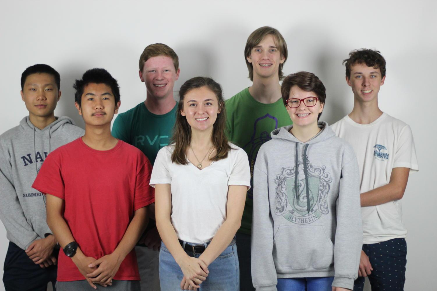 Students who competed at Prosper High School the past weekend will compete at the state tournament. Not pictured: sophomore Luke Wheatley, senior Anna Rouse, sophomore Ariel Kokoricha, senior Hannah Ortega.