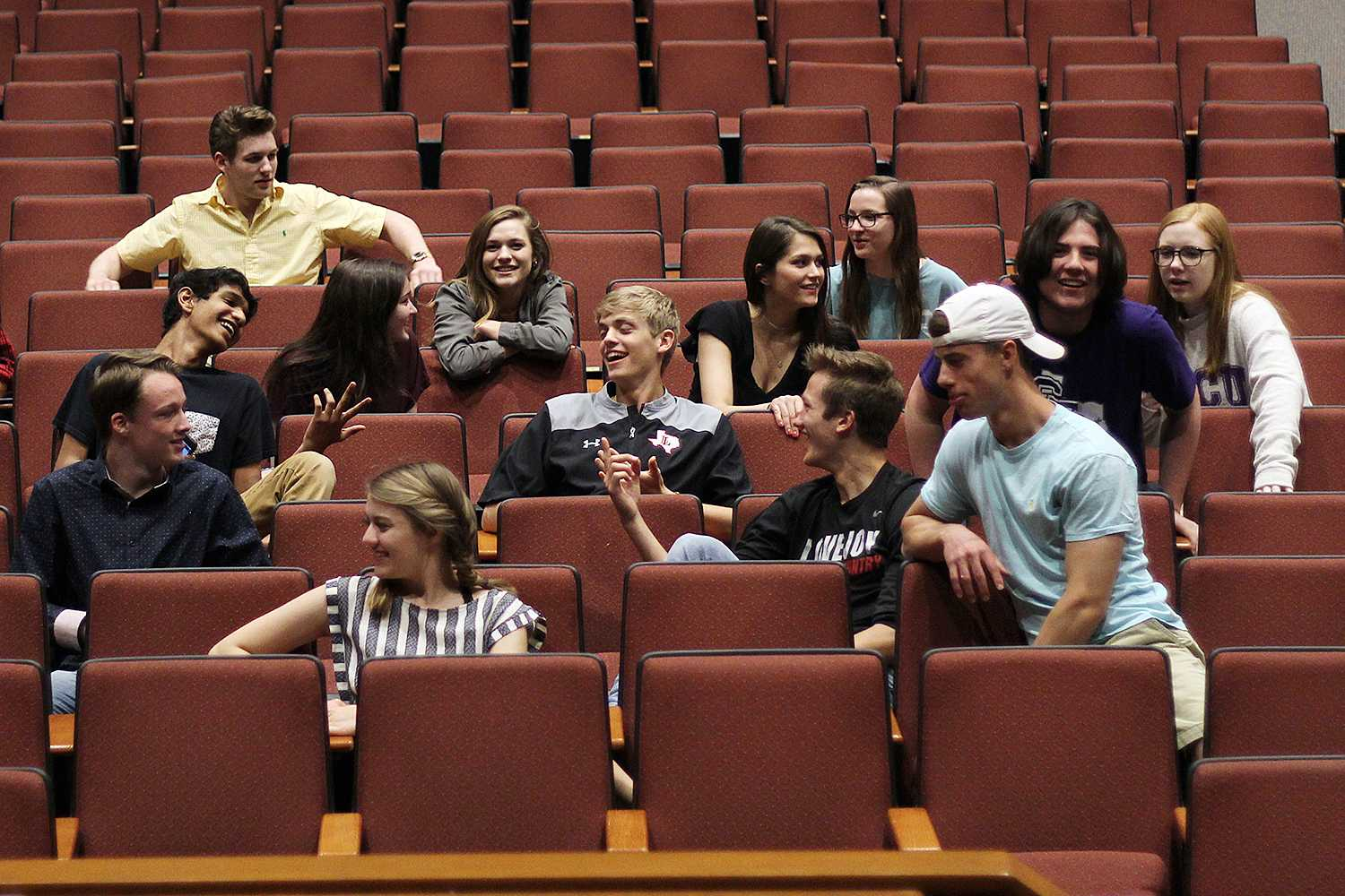 The a capella group currently has 18 members, four of which are juniors that are automatically admitted for next year's class. Freshmen, sophomores, and juniors are all allowed to audition.
