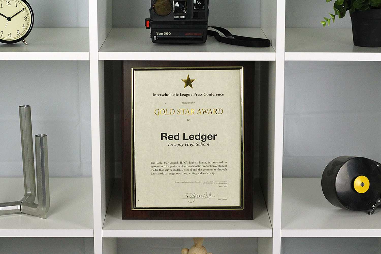 In addition to the individual awards, The Red Ledger also took home ILPC's most prestigious award for online newspaper with the Gold Star.