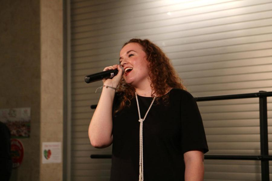 Senior Katie Strand performs