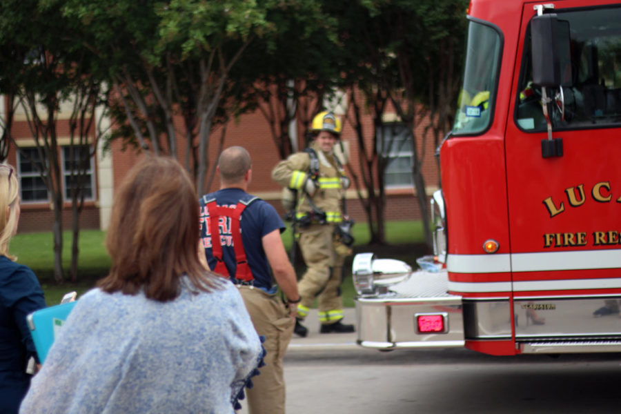 The Lucas Fire Department arrived twice Tuesday morning due to two false fire alarms.