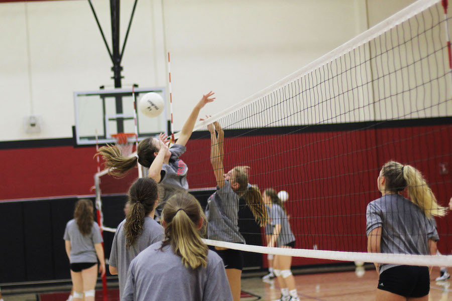 The volleyball team will defend their home court for the first time this season tomorrow night against Argyle.