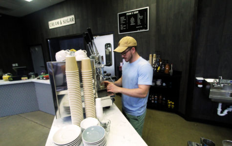 Coffee shop Cream and Sugar opened Aug. 10 in the Fairview Town Center. Levi Knight (pictured) manages the store.