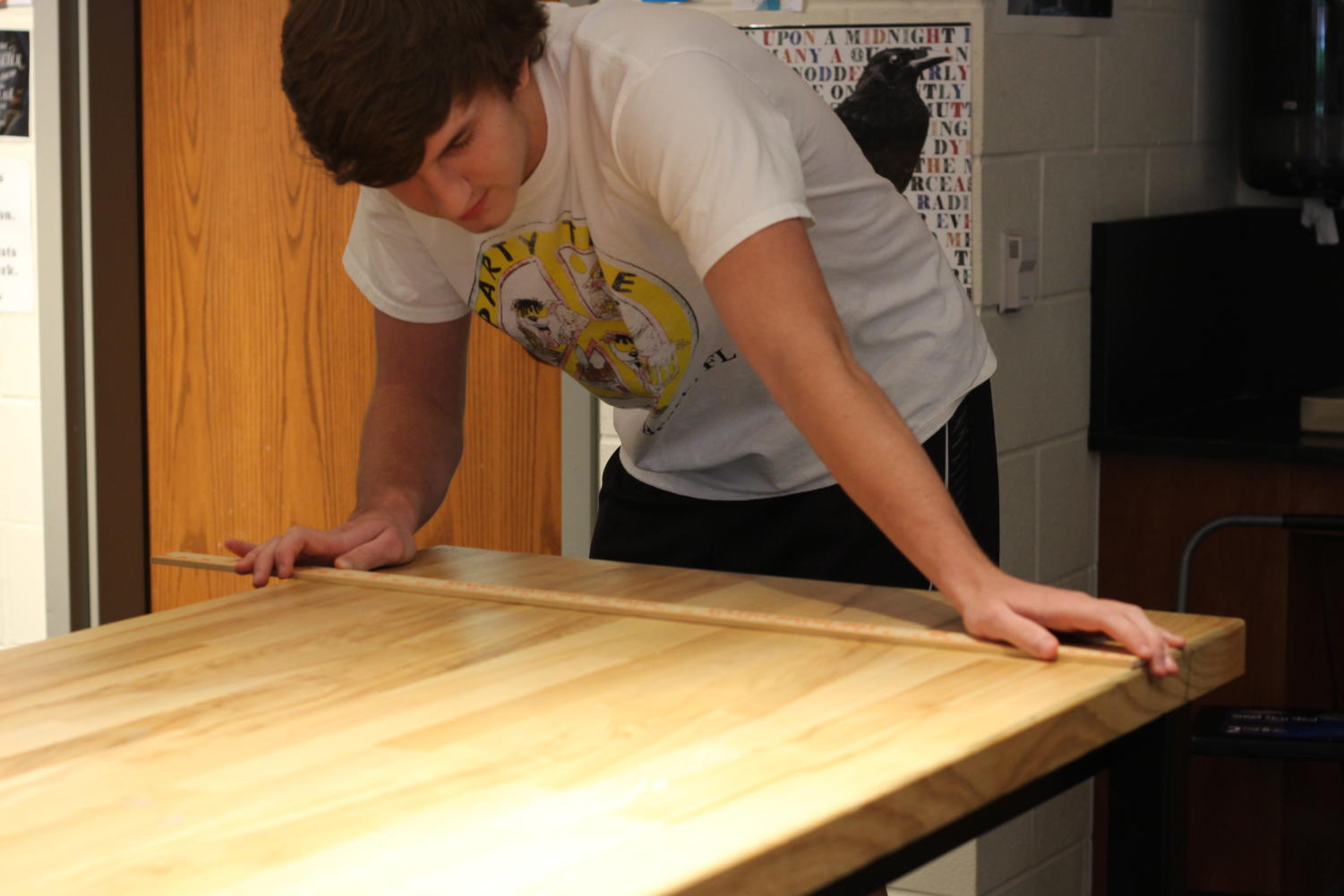 Seniors Luke Ledebur and JD Davidson spent their summer building desks and chairs for school districts across the metroplex.
