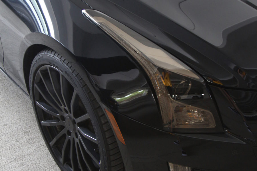 Senior Emily Cummings has an all black Cadillac CTS-V.