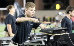 Percussion places fifth at first competition