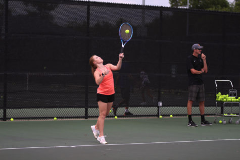 Tennis looks to stay undefeated in district in Denison
