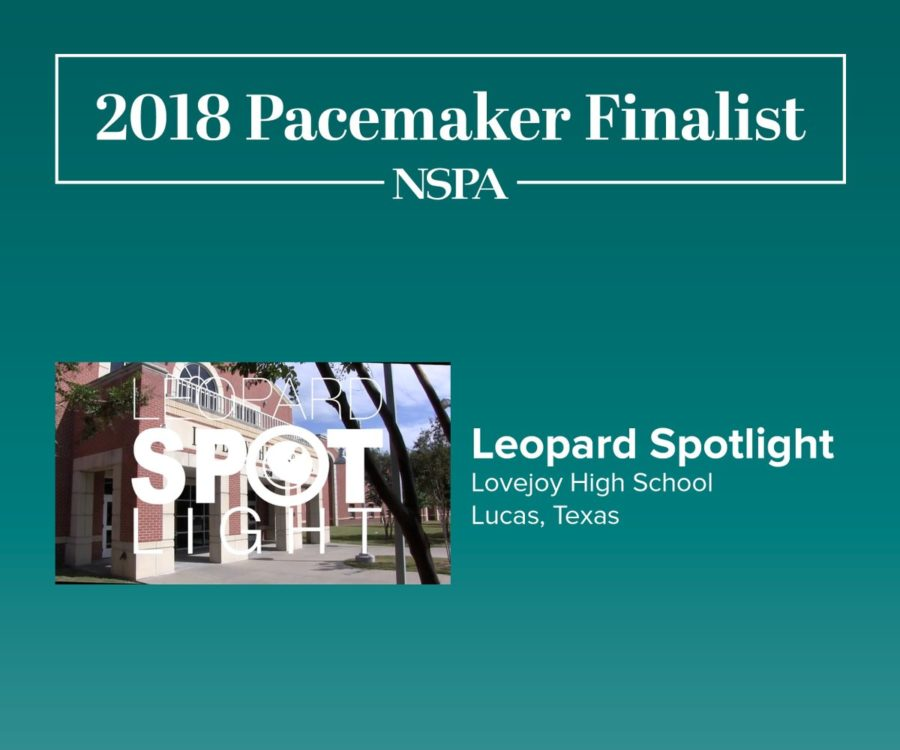 Leopard Spotlight has been named an NSPA Pacemaker finalist for the second straight year. The broadcast program was one of eight Pacemaker winners nationwide in 2017.
