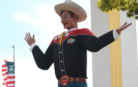 Big Tex is 66 years old and 55 feet tall, though his newest design is only 5 years old.