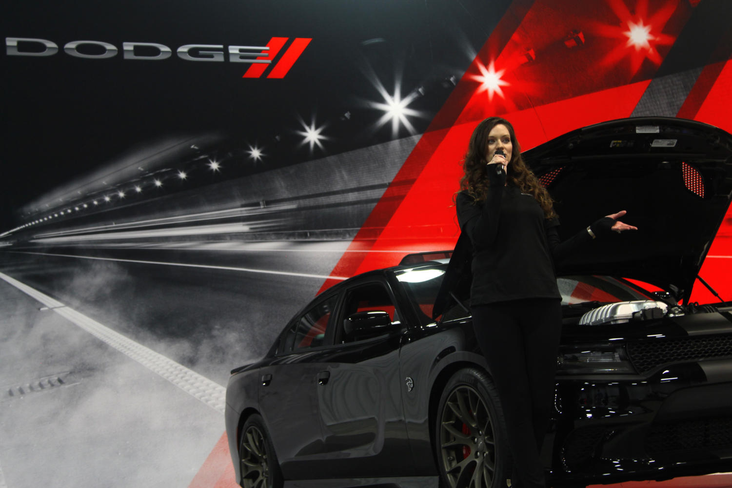 Dodge+saleswoman+speaks+about+how+fast+the+new+Dodge+Demon+is.