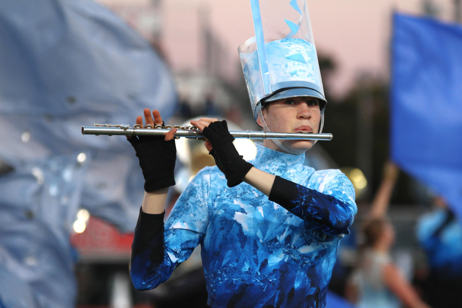 Senior+Mitchell+Massey+plays+the+flute+during+movement+three+in+the+band%27s+halftime+performance%2C+%22Silent+Night.%22