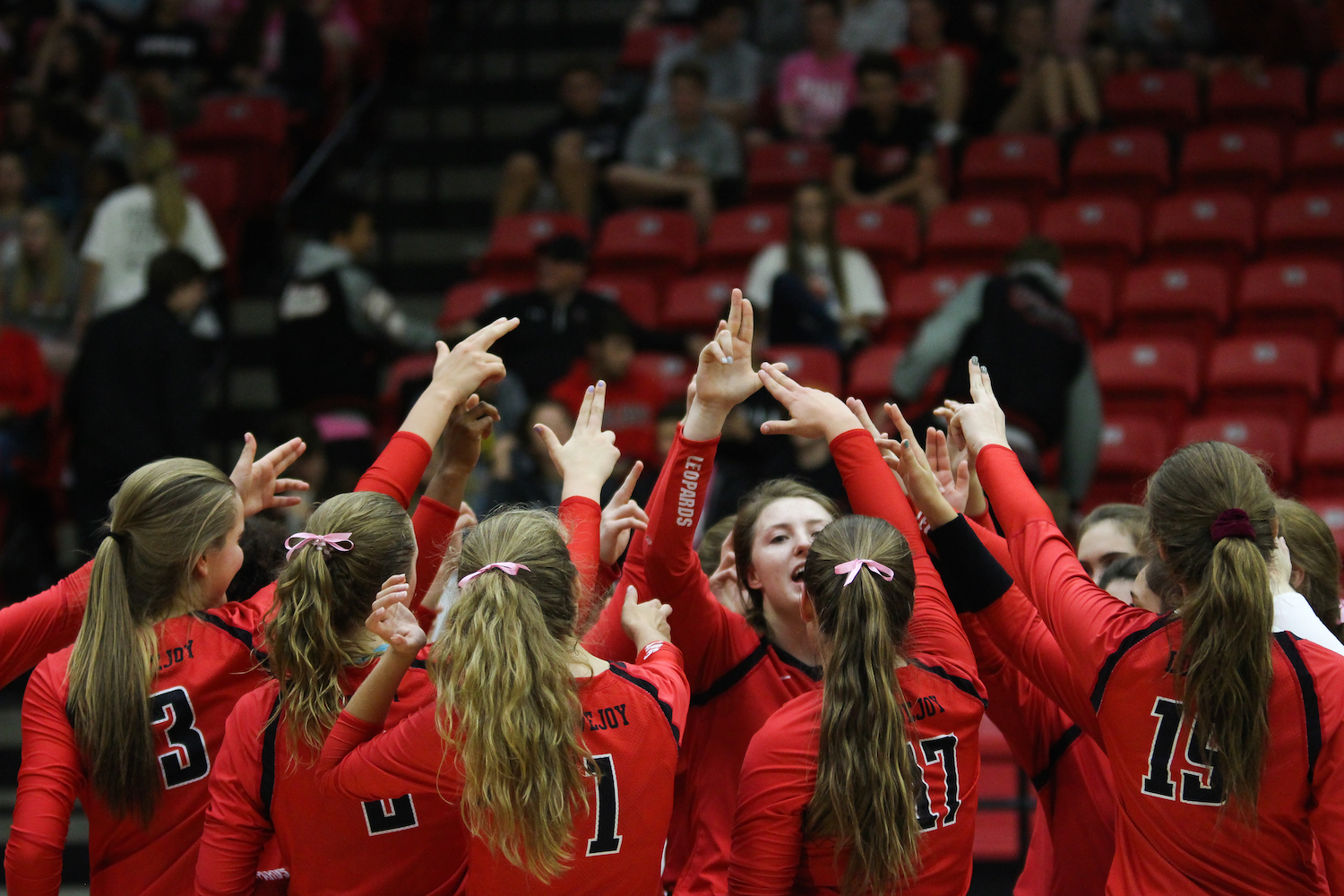 The volleyball program seeks its seventh state championship in this year's playoff run.
