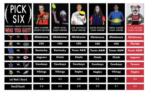 Pick Six: New week, new predictions